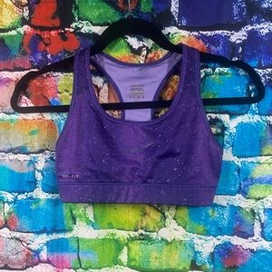 Nike Pro Dri-fit galaxy purple sports bra XS